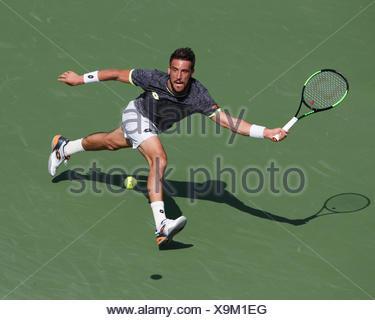 Damir Dzumhur, joueur de tennis, tennis de la BIH, Dubai Duty Free Tennis Championships, Dubaï, Émirats Arabes Unis Banque D'Images