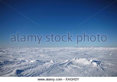 Les champs de glace de l'Antarctique avec ciel bleu, de l'Antarctique Banque D'Images