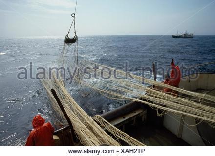 Killybegs, Co Donegal, Irlande; les pêcheurs au chalut Banque D'Images