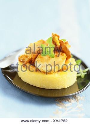 Fricassé de pétoncles avec polenta