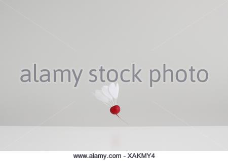 Le joueur de badminton conceptuel Banque D'Images