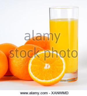 Jus d'Orange et oranges Banque D'Images