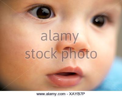 Sept mois bébé garçon Banque D'Images