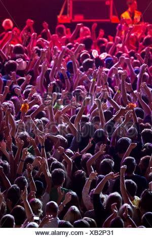 Concert de musique populaire,encourager,music festival Banque D'Images
