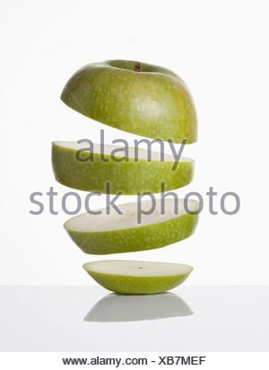 Close up de tranches de pomme Banque D'Images