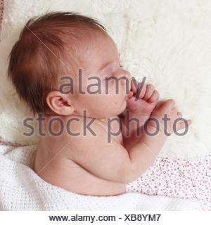 Baby Girl sleeping Banque D'Images