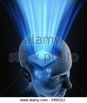 L'intelligence artificielle, conceptual image Banque D'Images