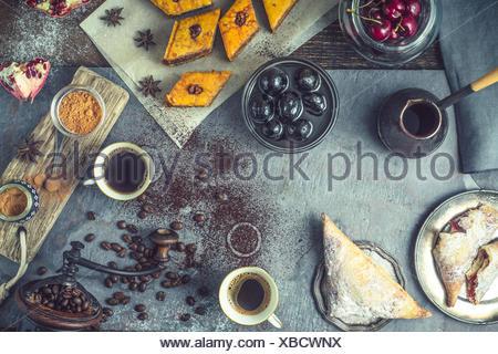 Concept de dessert oriental l'horizontale Banque D'Images