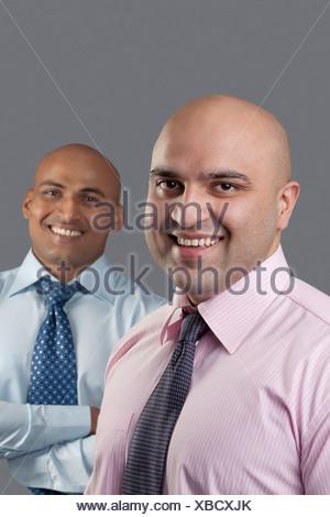 Portrait de deux cadres à tête Banque D'Images