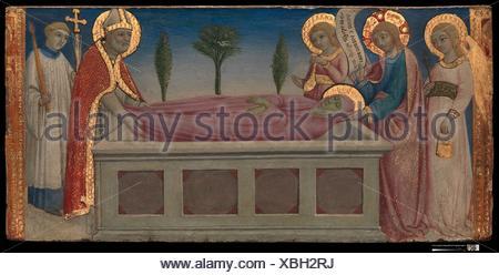 L'enterrement de Sainte Marthe. Artiste: Sano di Pietro (Ansano di Pietro di Mencio) (Italien, Sienne Sienne 1405-1481); Date: ca. 1460-70 Tempera: moyen; Banque D'Images