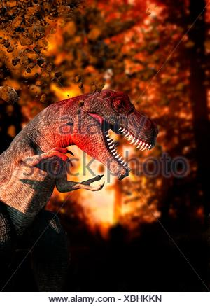 Dinosaur, artwork de l'ordinateur.