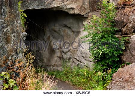 Pierre Détail But Bear Cave Porte Passage Archgway Rock Fantasy