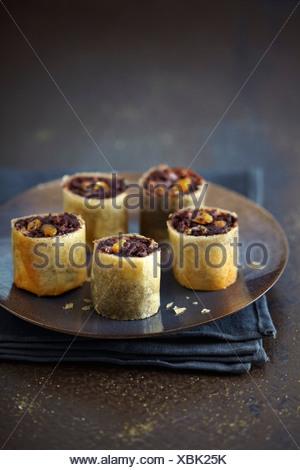 Boudin et pains croquants aux raisins Banque D'Images