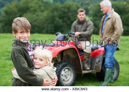 Sur la famille quad Banque D'Images