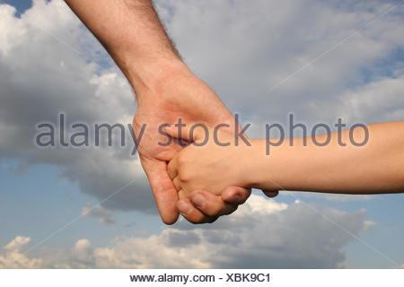 Portée de main à main Banque D'Images