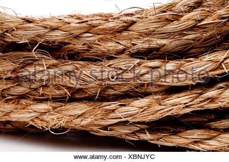 Boucle thread stack tressé tressé corde cordon bobine de ficelle macro macro close-up Banque D'Images