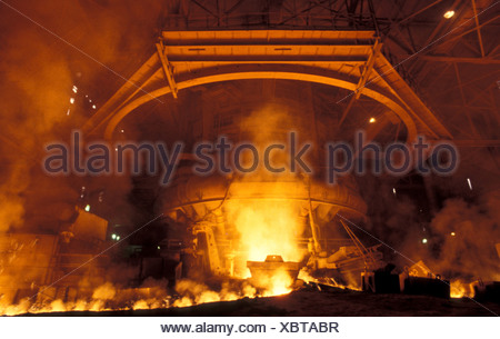 Four à naviguer en acier Steel Authority of India Ltd Inde Jharkhand Bokaro plante Banque D'Images