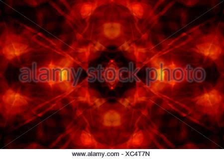 Fond rouge et noir kaleidoscope Banque D'Images