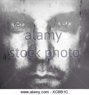 Extreme Close Up Portrait of Young Man Banque D'Images