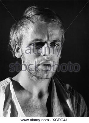 Kinski, Klaus, 18.10.1926 - 23.11.1991, acteur allemand, portrait, années 1950, Banque D'Images