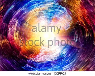 Éclat de couleur Banque D'Images