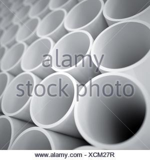 Les bouteilles en plastique blanc Banque D'Images