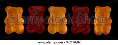 Certains ours gommeux coloré en noir retour