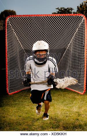 USA, Utah, Provo, Junior (6-7) joueur dans l'objectif Banque D'Images