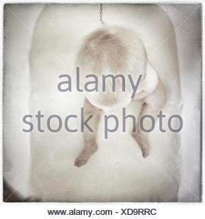 Vue aérienne de baby sitting à Bath Banque D'Images