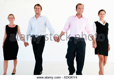 Convaincus de l'équipe entreprises de marche Banque D'Images