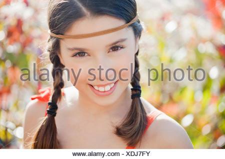 Portrait of a happy girl Banque D'Images