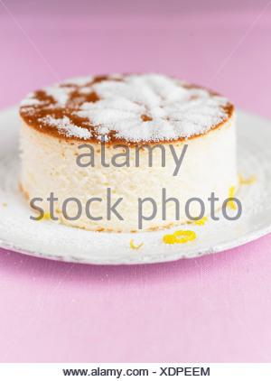 Gâteau au fromage au citron Banque D'Images