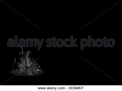 Diwali pétards isolé sur fond noir
