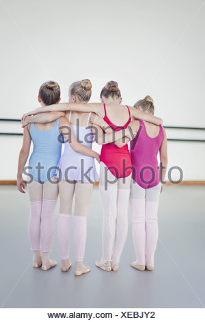Danseurs de Ballet Standing together Banque D'Images