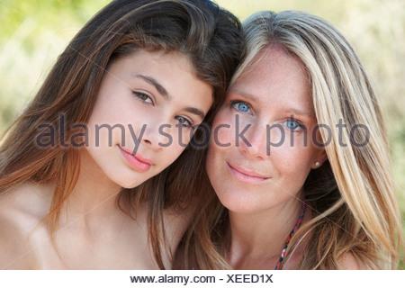 Portrait de Mère et fille Banque D'Images