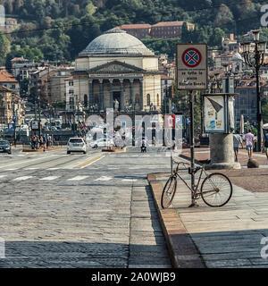 La città di Torino in ore diurne Foto Stock