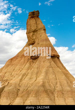 Castil de Tierra (Castildetierra) formazione di roccia, Bardenas Reales Desert, Navarra, Spagna