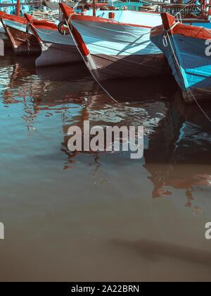 Barche da pesca, Bali, Indonesia Foto Stock