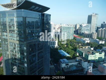 Moderno skyline di Pechino, Cina. 2019. Pechino è la capitale della Repubblica popolare di Cina, il mondo è la terza città più popolosa e la più popolosa città capitale. Foto Stock