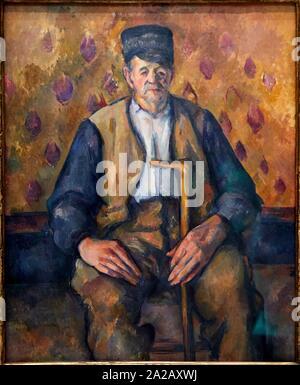 '''Paysan assis'', 1900-1904, Paul Cézanne, 1839-1906, Musée d'Orsay, Parigi, Francia, Europa Foto Stock