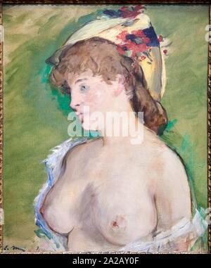 ''Le Blond aux seins nus'', 1878, Édouard Manet (1832-1883), il Musée d'Orsay, Parigi, Francia, Europa Foto Stock