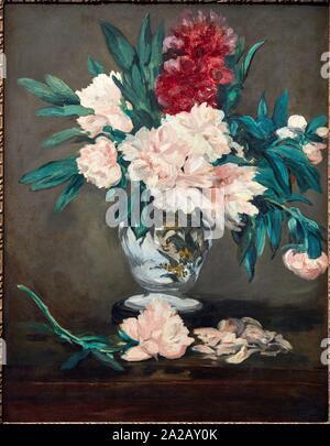 '''Vase de pivoines sur piédouche'' 1864, Édouard Manet (1832-1883), il Musée d'Orsay, Parigi, Francia, Europa Foto Stock