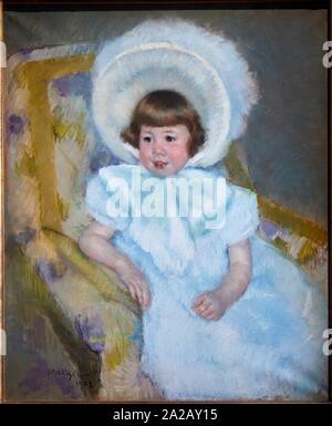 '''Portrait de Louise-Aurore Villeboeuf enfant'', 1902, Mary Cassatt (1844-1926), il Musée d'Orsay, Parigi, Francia, Europa Foto Stock
