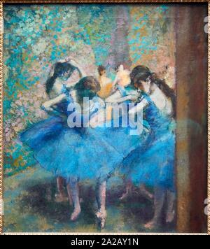 """'''Danseuses bleues"""", 1893, Edgar Degas (1834-1917), il Musée d'Orsay, Parigi, Francia, Europa"""