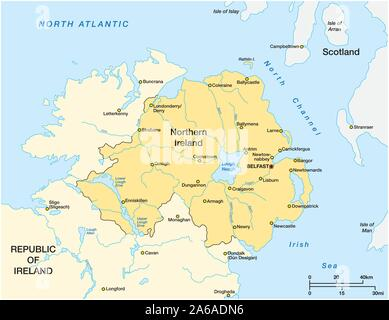 Irlanda Del Nord Cartina.Belfast Irlanda Del Nord Regno Unito Mappa Della Citta Immagine E Vettoriale Alamy