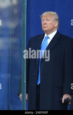 New York, NY, STATI UNITI D'AMERICA. Xi Nov, 2019. di presenze per presidente Donald Trump a New York City veterani parata del giorno, New York, NY Novembre 11, 2019. Credito: Kristin Callahan/Everett raccolta/Alamy Live News Foto Stock