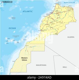Marocco Cartina Stradale.Casablanca Marocco Mappa Della Citta Immagine E Vettoriale Alamy
