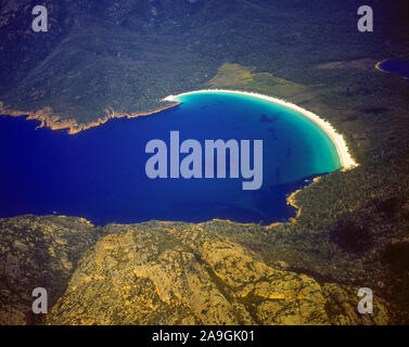 Winegalss Bay View, Parco Nazionale di Freycinet, Tasmania, Australia, Vista Aerea,