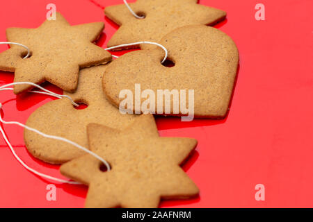 Natale svedese gingerbread cookies pepparkakor Foto Stock