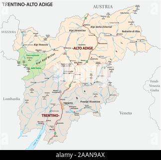 Cartina Stradale Trentino.Svizzera Mappa Stradale Immagine E Vettoriale Alamy